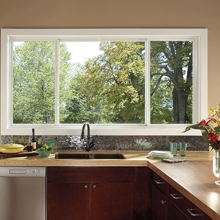 impervia single hung window over kitchen sink